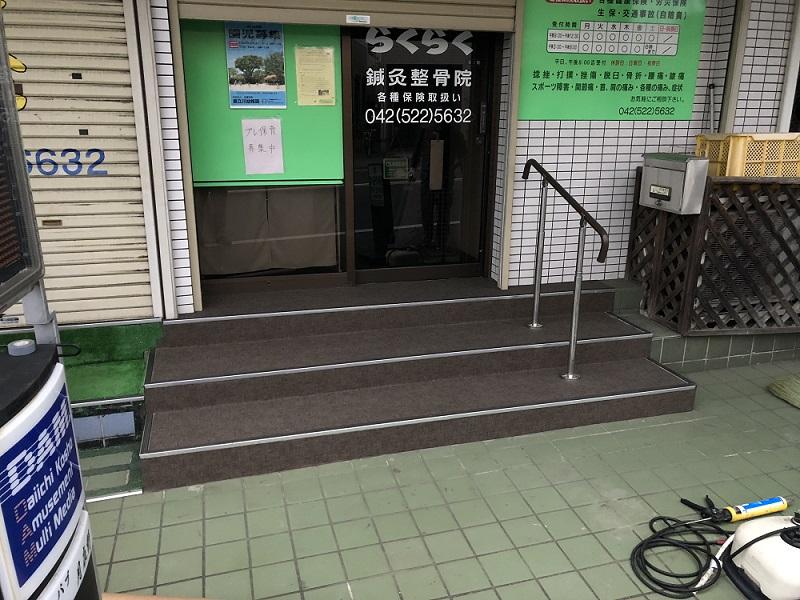 店舗外部床シート