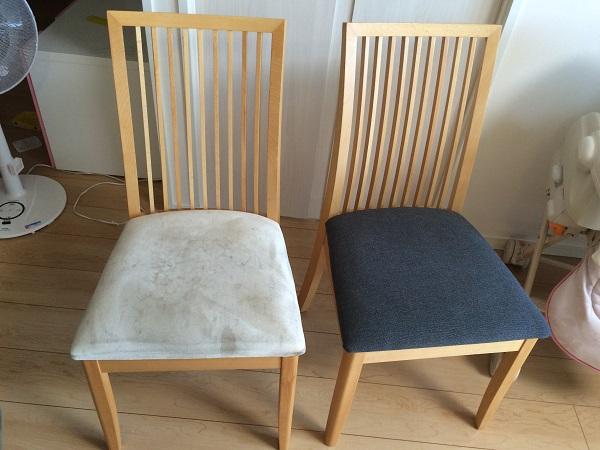椅子生地の張替え